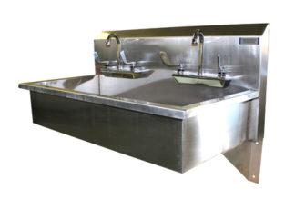 VersaKleen Stainless Steel Wall Mounted 2 Station Sink