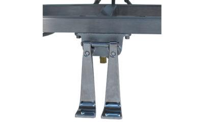 VersaKleen® Stainless Steel Floor Mount Sink showing foot pedal detail