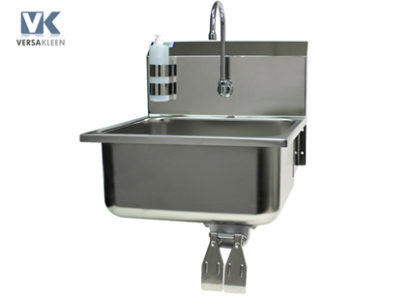 VersaKleen® Stainless Steel Wall Mount Sink with VersaKleen logo